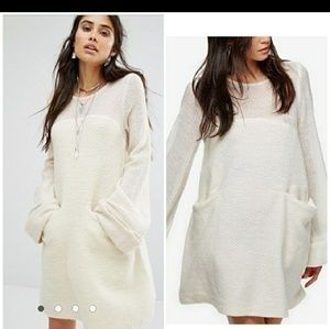 Free People Off White Rabbit Dress Small